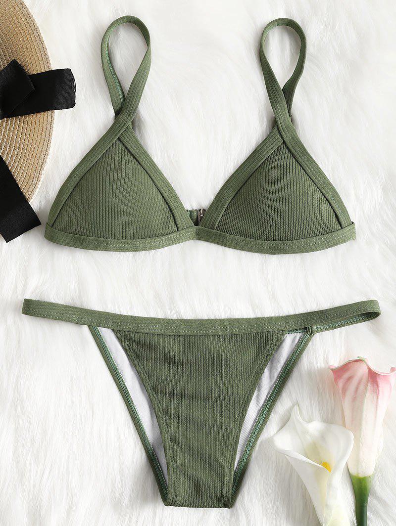 Gerippter Textur String Bikini Set