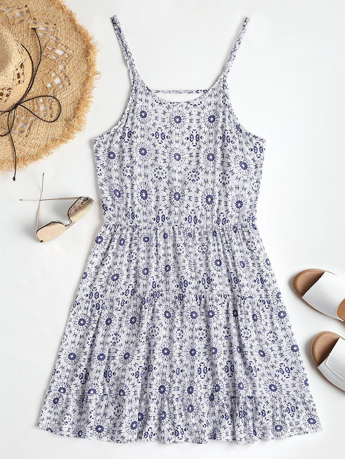 Low Back Cami Printed Beach Dress 245378401