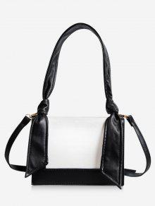 الحد الأدنى لون حقيبة الكتف المتناقضة - أسود