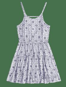 Vestido Con De Blanco Baja Espalda M Estampado Playa Cami De rBqwxAU7r