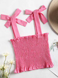 Tank Top Sin Mangas Recortada - Peach Red M