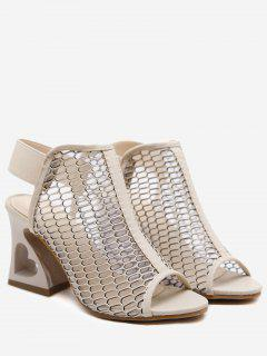 Elastic Band High Heel Sandals - Apricot 37
