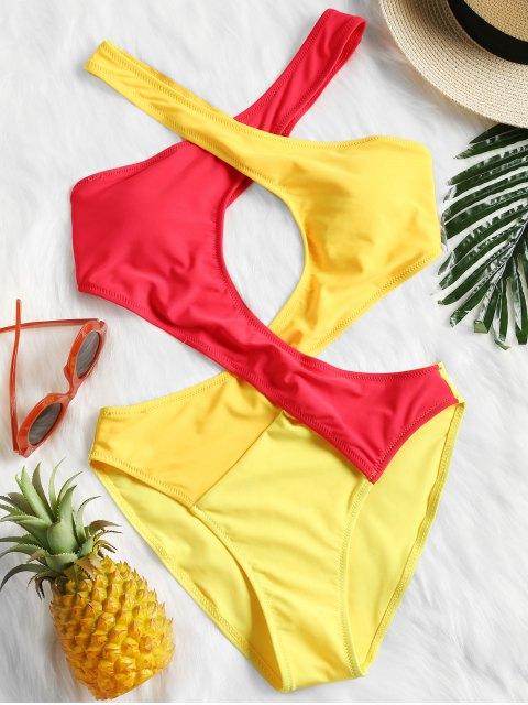 Color Block Monokini - Amarillo S Mobile
