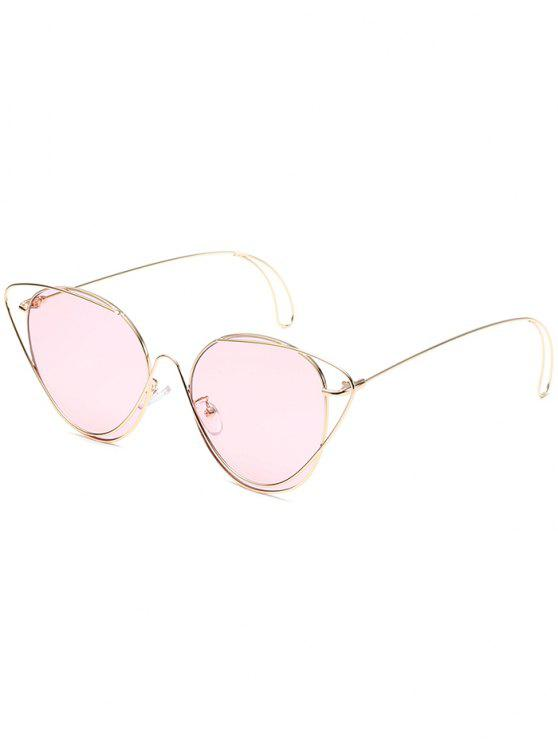 نظارات شمسية مضادة للتعب - الذهب الإطار + الوردي عدسة