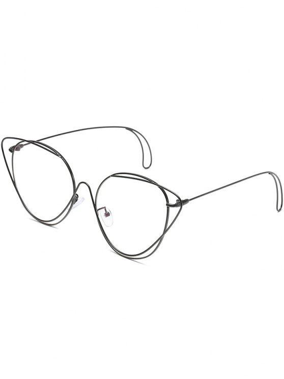 Anti-Müdigkeit aushöhlen ovale Sonnenbrille - Schwarz