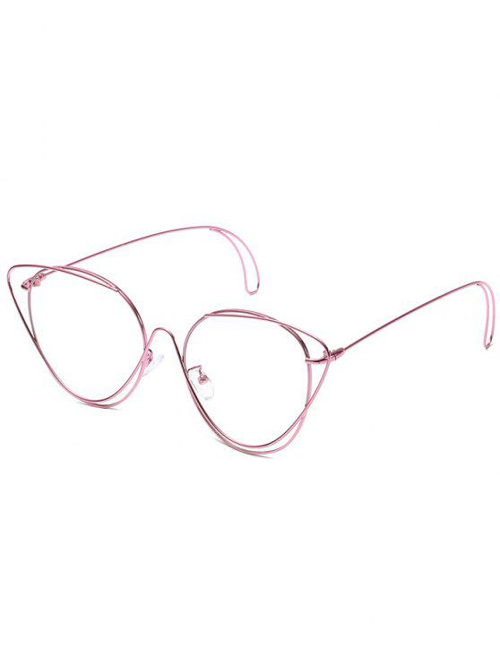Gafas de sol ovaladas anti-fatiga Hollow Out - Rosa