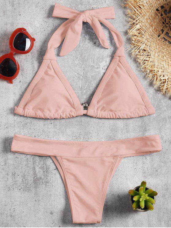 gepolstert Halfter Bikini Set - Rosa S