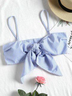 Striped Self Tie Cami Top - Stripe S
