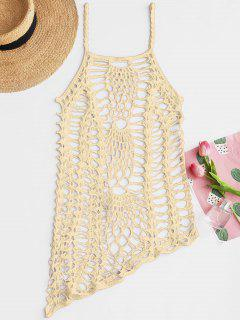 Crochet Beach Dress Slip Dress Up - Abricot