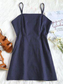 Polka Dot Cami Summer Dress - Midnight Blue L