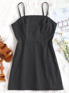 Polka Dot Cami Summer Dress - Black L