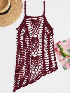 Crochet Beach Slip Kleid Vertuschen - Weinrot