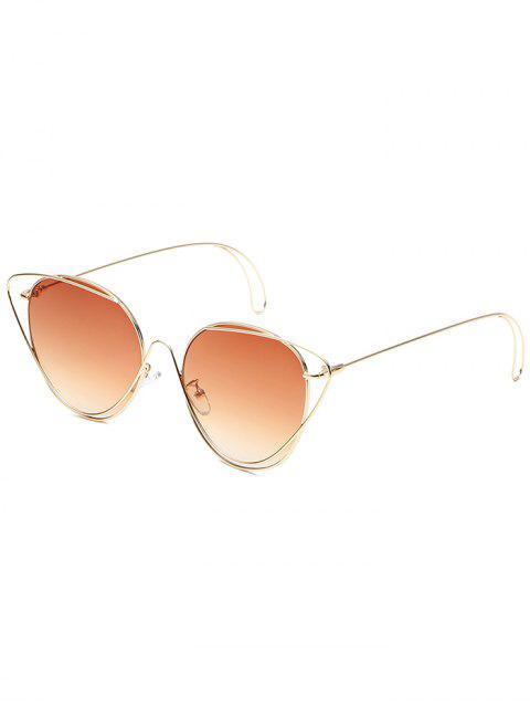 Anti-Müdigkeit aushöhlen ovale Sonnenbrille - Braun  Mobile