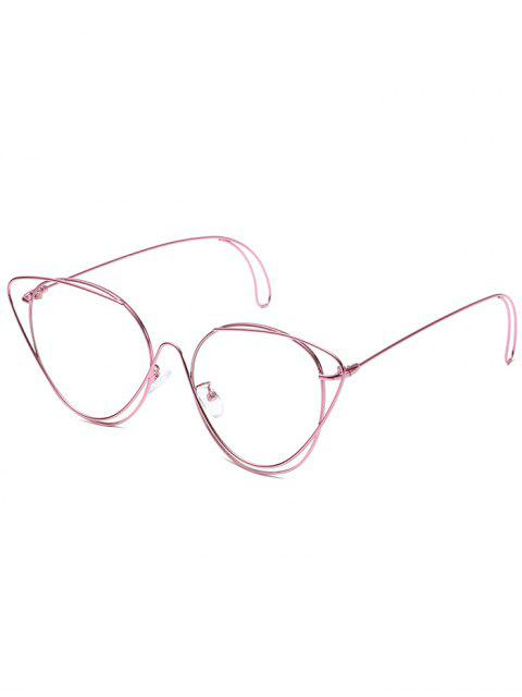 latest Anti-Fatigue Hollow Out Oval Sunglasses - PINK  Mobile