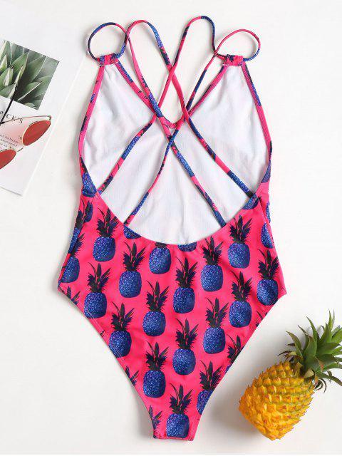 Correas de piña traje de baño de pierna alta - Cientos de Fructosa M Mobile