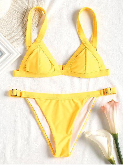 GepolsterterString Bikini Set - Gelb S Mobile
