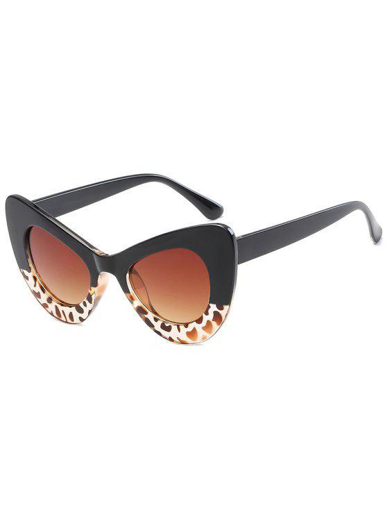 chic Stylish Full Frame Sun Shades Sunglasses - LEOPARD+DARK BROWN