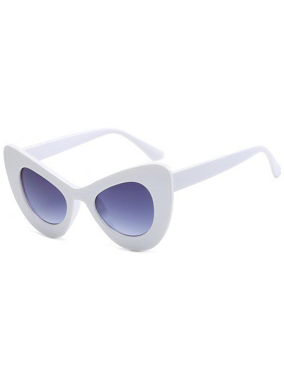 Occhiali Da Sole Da Autista Tutti Cerchiati Alla Moda - Struttura Bianca + Lente Grigia