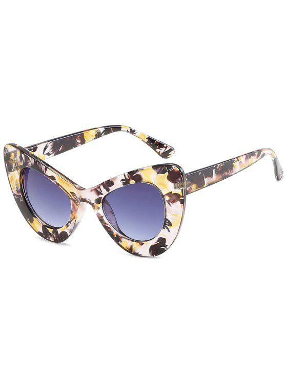women's Stylish Full Frame Sun Shades Sunglasses - CORN YELLOW
