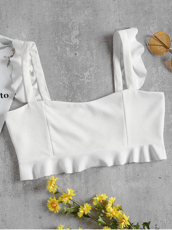 Canotta Crespella Crop arricciata - Bianco S