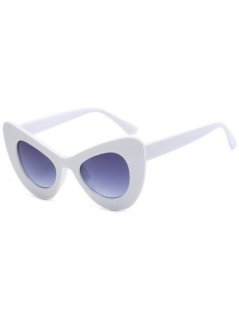 sale Stylish Full Frame Sun Shades Sunglasses - WHITE FRAME+GREY LENS  Mobile