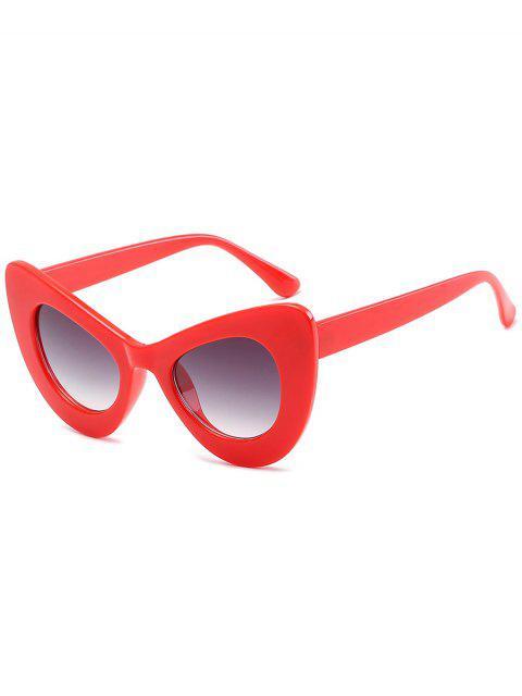 ladies Stylish Full Frame Sun Shades Sunglasses - BRIGHT RED  Mobile