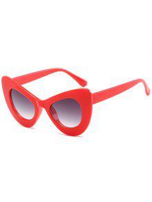 نظارات شمسية أنيقة بإطار من المعدن - أحمر فاتح