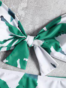 Blanco Out Cut Bandeau Swimsuit Leaf Size Bow 3xl Plus zvTTqH0