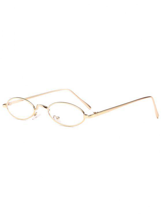 Einzigartige Metall Full Frame Oval Sonnenbrille - clear weiß
