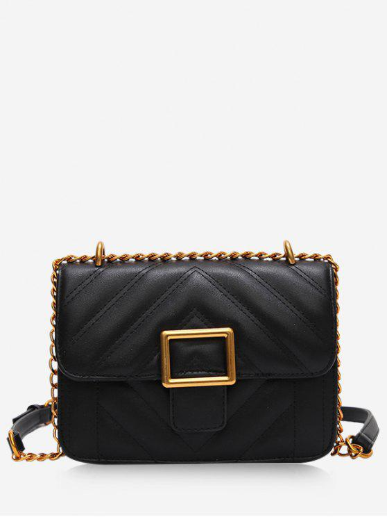 Saco Crossbody da grade do Rhombus - Preto