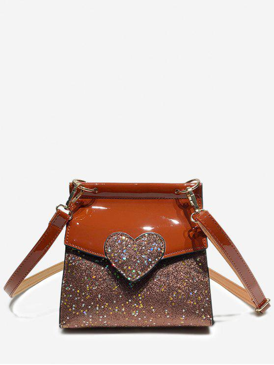 buy Minimalist Sequined Chic Crossbody Bag - BROWN