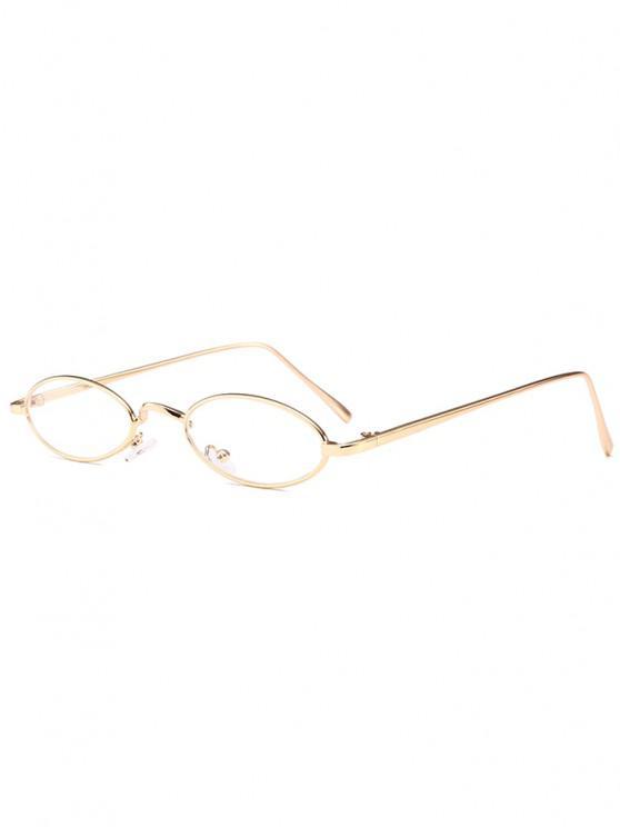 Óculos de Sol Exclusivo com Moldura Metálica - Branco Transparente