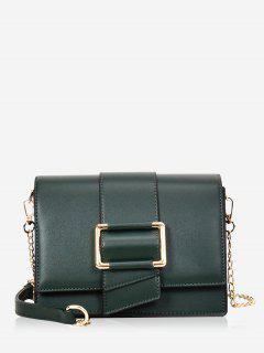 Buckled Minimalist Casual Crossbody Bag - Medium Sea Green