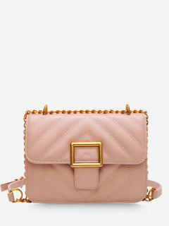 Rhombus Grid Crossbody Bag - Pink