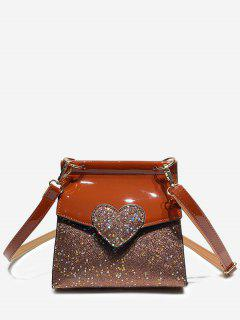 Minimalist Sequined Chic Crossbody Bag - Brown