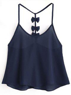 Bowknot Embellished Cami Top - Midnight Blue L