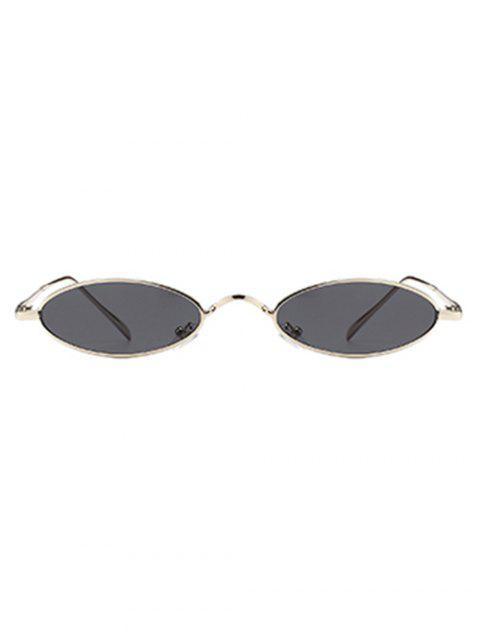 unique Unique Metal Full Frame Oval Sunglasses - SILVER FRAME+GREY LENS  Mobile