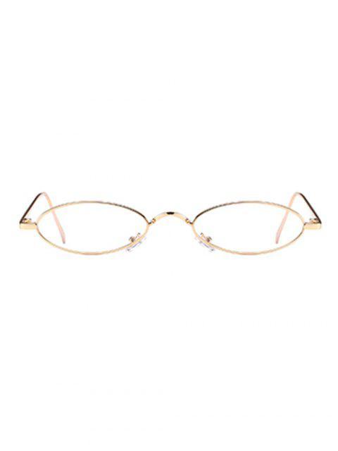 women Unique Metal Full Frame Oval Sunglasses - CLEAR WHITE  Mobile