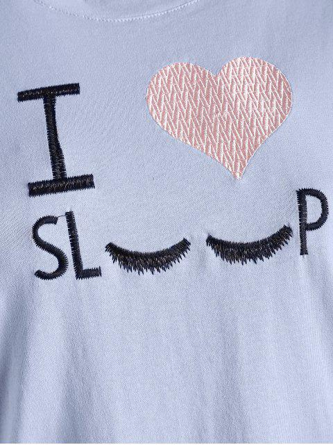 online I Love Sleep Embroidered Graphic Tee - BLUE ANGEL ONE SIZE Mobile