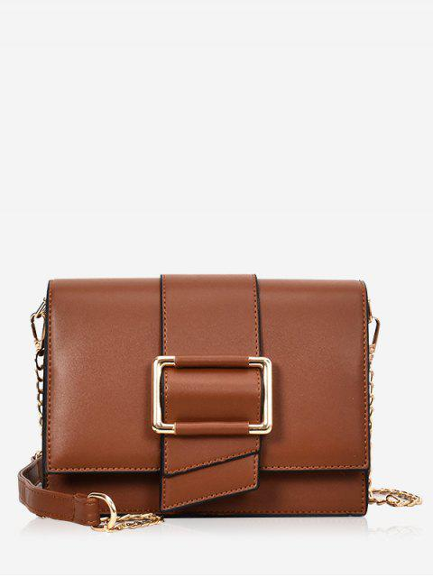 chic Buckled Minimalist Casual Crossbody Bag - BROWN  Mobile