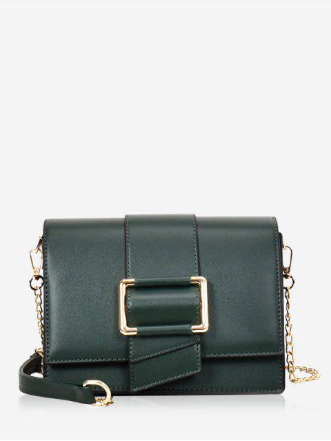sale Buckled Minimalist Casual Crossbody Bag - MEDIUM SEA GREEN  Mobile