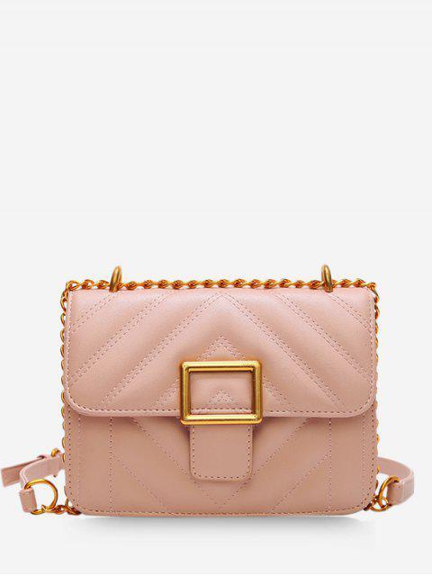 fancy Rhombus Grid Crossbady Bag - PINK  Mobile