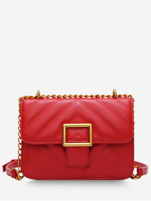 sale Rhombus Grid Crossbody Bag - RED  Mobile