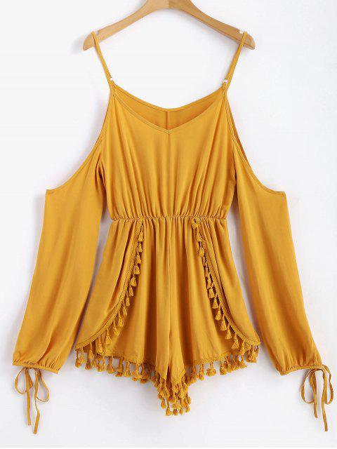 Mameluco de hombro con borlas en capas - Oro Anaranjado XL Mobile