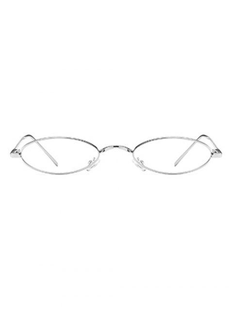 Óculos de Sol Exclusivo com Moldura Metálica - Branco de prata  Mobile