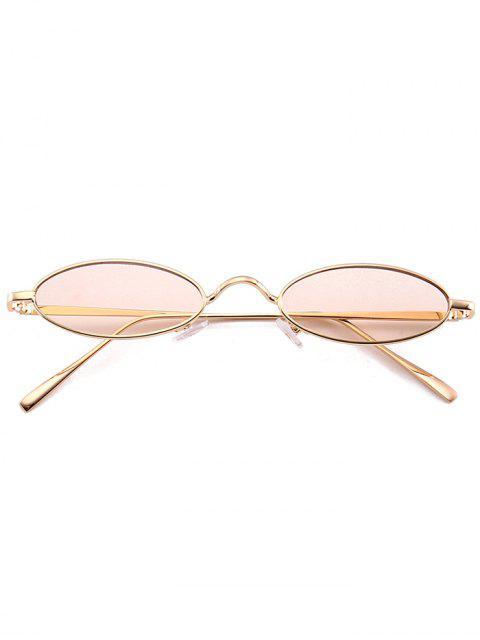 Occhiali Da Sole Ovali Tutti Cerchiati In Metallo Unici - Rosa Nude  Mobile