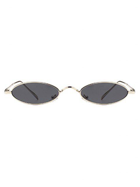 Óculos de Sol Exclusivo com Moldura Metálica - Moldura Prata + Lente Cinza  Mobile