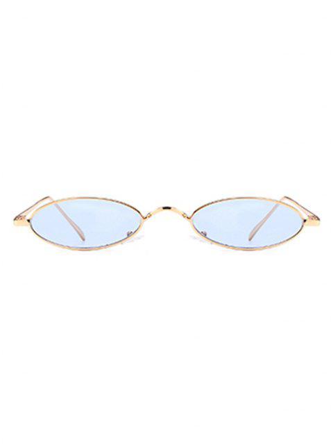 Occhiali Da Sole Ovali Tutti Cerchiati In Metallo Unici - Azzurro  Mobile
