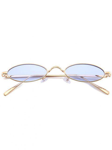 Óculos de Sol Exclusivo com Moldura Metálica - Azul claro  Mobile