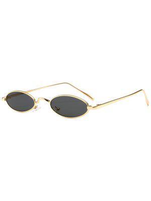 Einzigartige Metall Full Frame Oval Sonnenbrille